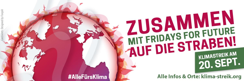 Am 20. September für das Klima streiken!